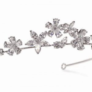 Contemporary Chic Bridal Cubic Zirconia Tiara