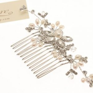 Delicate Fresh Water Pearl & Crystal Hair Comb