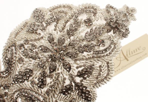 Stunning Vintage Swarovski Crystal Side Headpiece