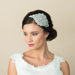 Stunning Vintage Swarovski Crystal Side Headpiece