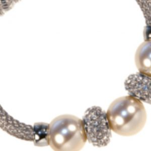 Absolute Ivory Pearl & Swarovski Crystal Magnetic clasp Bracelet
