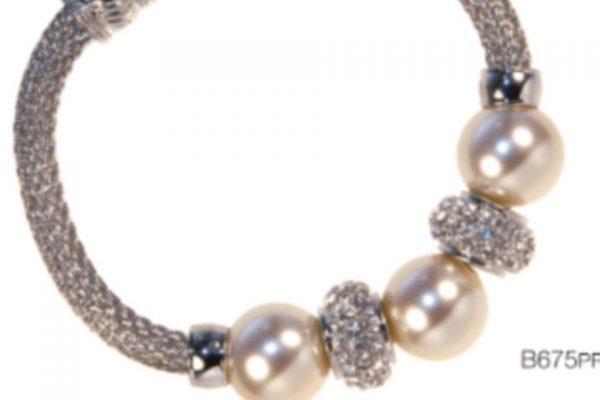 Absolute Ivory Pearl & Swarovski Crystal Magnetic clasp Bracelet