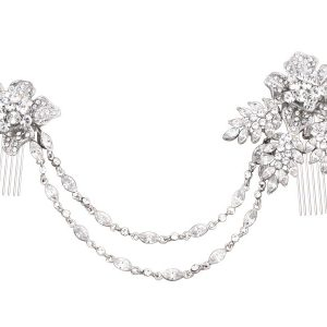 Gatsby Inspired Drape Crystal Headpiece
