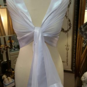 WHITE SILK WRAP