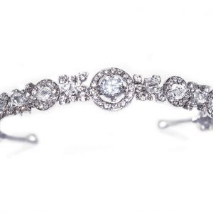 Elegant Bridal Clear Swarovski Crystal Headpiece