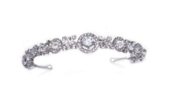 Elegant Bridal Clear Swarovski Crystal Headpiece
