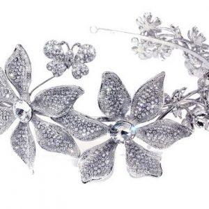 Stunning Bridal Clear Swarovski Crystal Headpiece