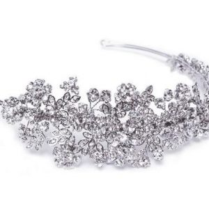Floral Bridal Clear Swarovski Crystal Headband