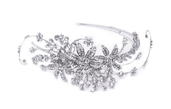 Sparkling Bridal Clear Swarovski Crystal Headband