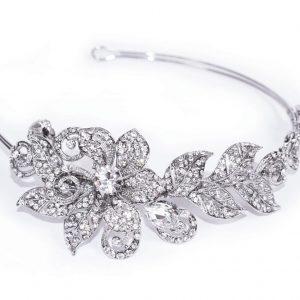 Pretty Bridal Clear Swarovski Crystal Headpiece
