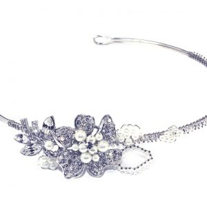 Dainty Bridal Clear Swarovski Crystal Headpiece