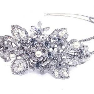 Classical Bridal Clear Swarovski Crystal Double Headpiece