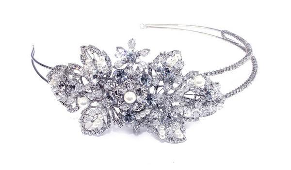 Classical Bridal Clear Swarovski Crystal Double Headpiece
