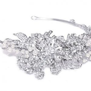Eye-Catching Bridal Clear Swarovski Crystal Headpiece