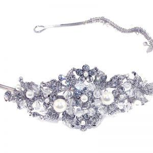 Stunning Venetian Bridal Clear Swarovski Crystal Headpiece