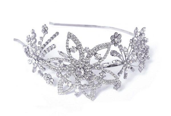Gorgeous Antique Bridal Clear Swarovski Crystal Headpiece