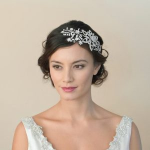 Gorgeous Antique Bridal Clear Swarovski Crystal Headpiece