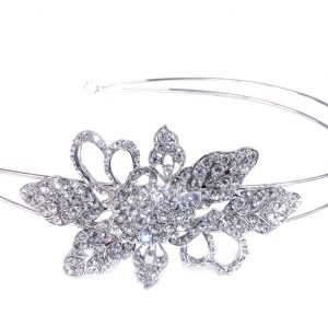 Delicate Bridal Clear Swarovski Crystal Double Headband