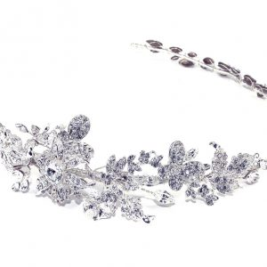 Delicate Hairvine Bridal Clear Swarovski Crystal Headpiece