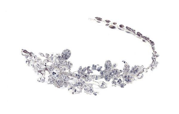 Delicate Hairvine Bridal Clear Swarovski Crystal Headpiece