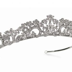 Graceful Bridal Clear Swarovski Crystal Tiara