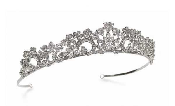 Graceful Bridal Clear Swarovski Crystal Tiara