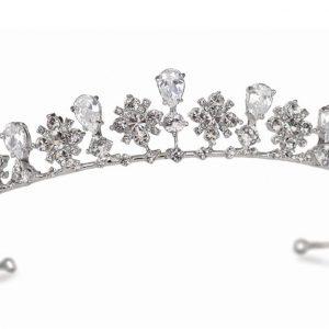 Victorian Bridal Clear Swarovski Crystal Tiara