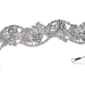 Feminine Bridal Clear Swarovski Crystal Tiara