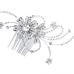 Stunning Bridal Clear Swarovski Crystal Hair Comb