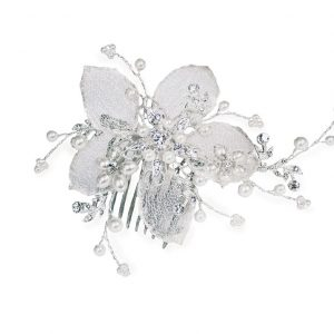 Pretty Bridal Clear Swarovski Crystal Hair Comb