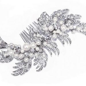 Eye-Catching Bridal Clear Swarovski Crystal Hair Comb
