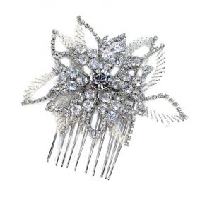 Stunning & Subtle Bridal Clear Swarovski Crystal Hair Comb
