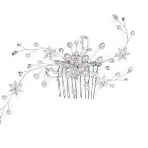 Dainty Bridal Clear Swarovski Crystal Hair Comb