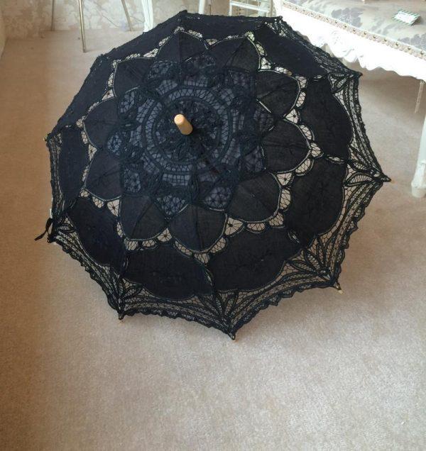 Stunning Black Lace Parasol