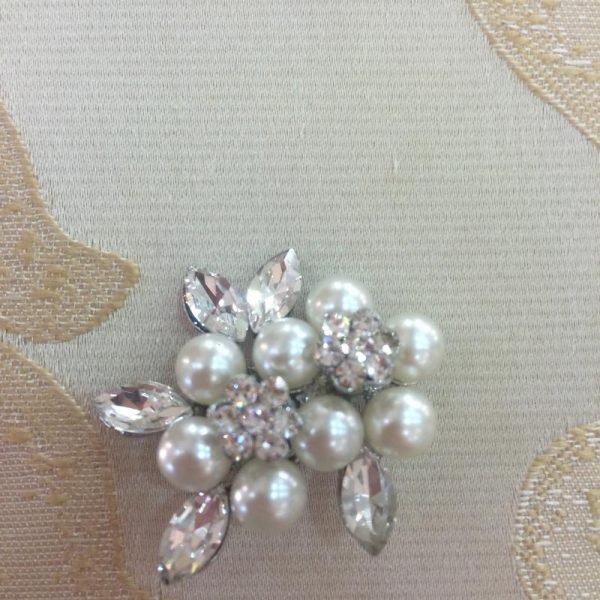 Petite Pearl and Crystal Brooch
