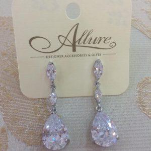 Dazzling Drop Crystal Earrings
