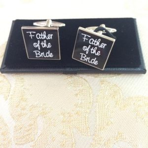 Father of the Bride (in Black) Cufflinks
