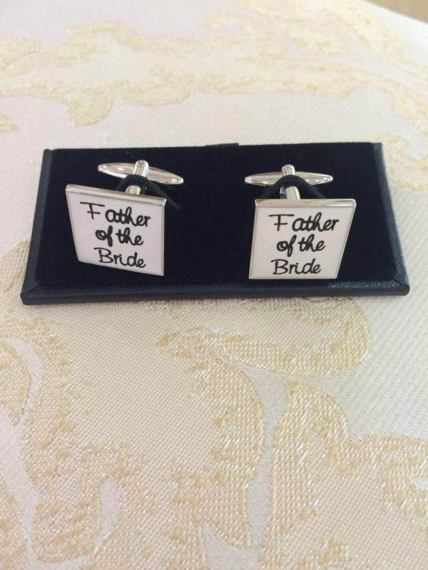 Father of the Bride (in White) Cufflinks