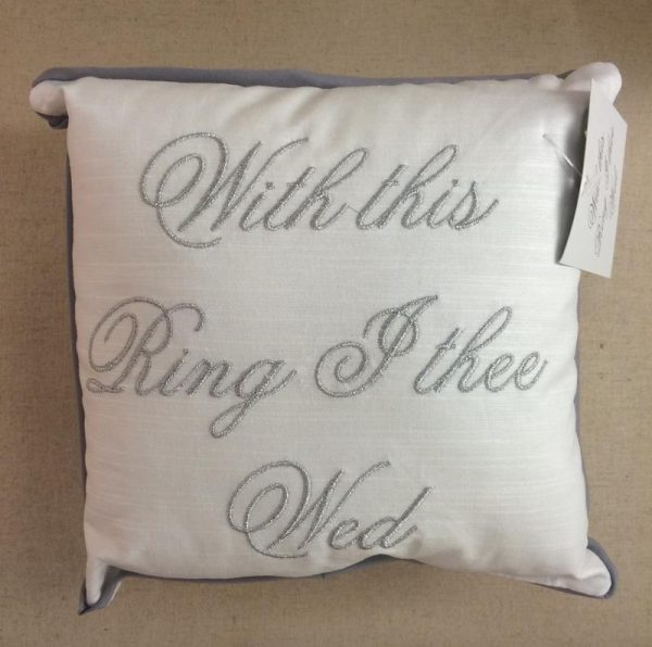 With this Ring I thee Wed Cushion