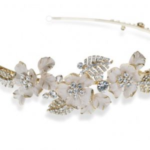 Golden Floral & Crystal Headpiece
