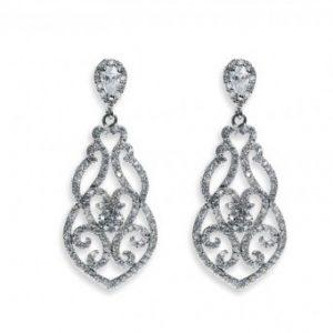 Dazzling Silver Earrings