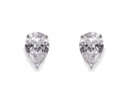 Tear Drop Silver Earrings