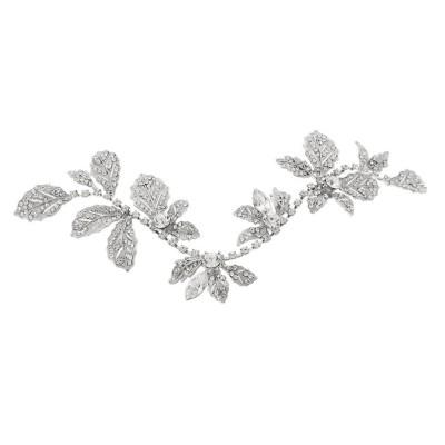 Vintage Opulent Silver Hair Vine