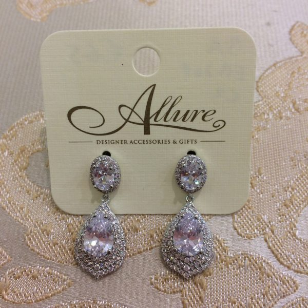 Elegant Silver Drop Earrings