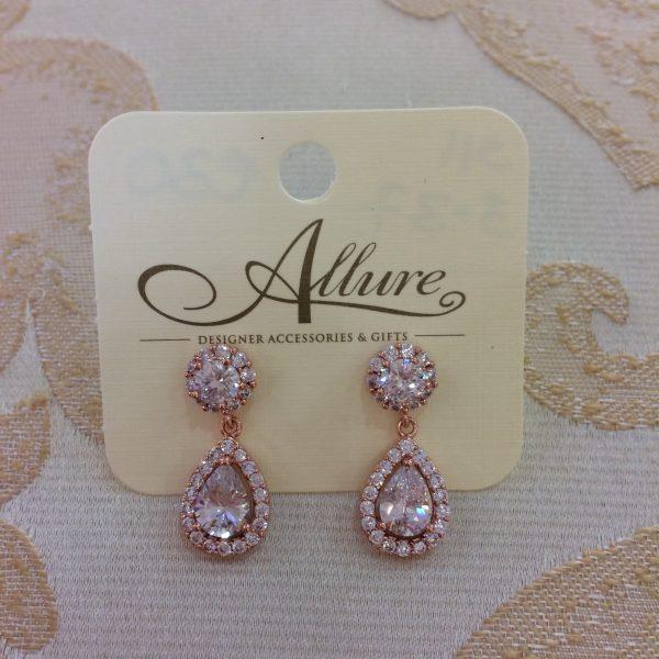 Stunning Rose Gold Teardrop Earrings