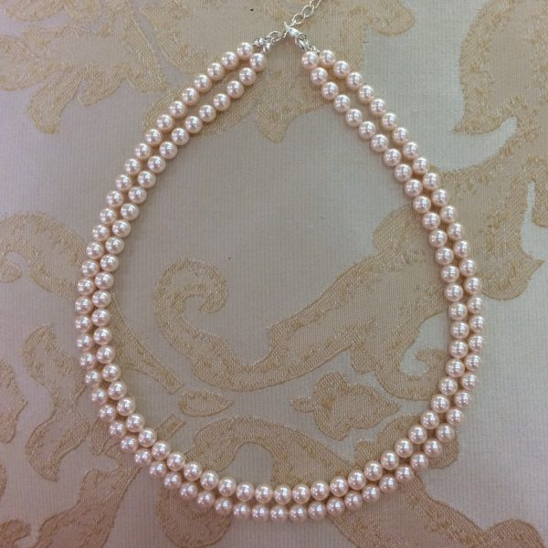 Ivory Pearl Double Row Necklace