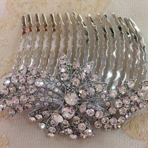Stunning Silver Diamante Comb
