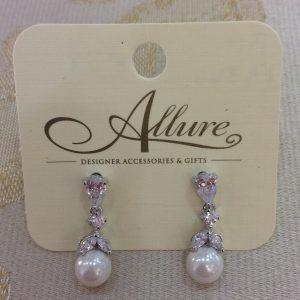 Dainty Silver & Pearl Earrings