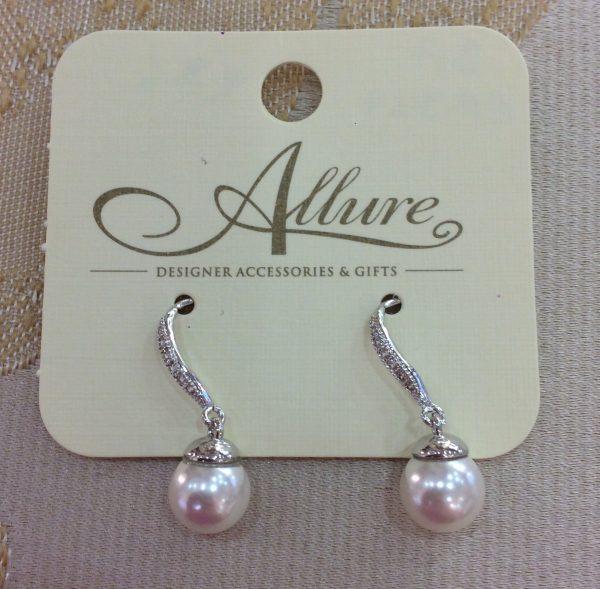 Graceful Pearl & Crystal Earrings