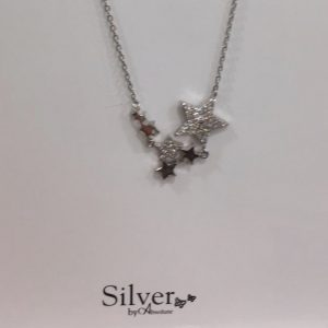Absolute Sterling Silver Delicate Star Necklace